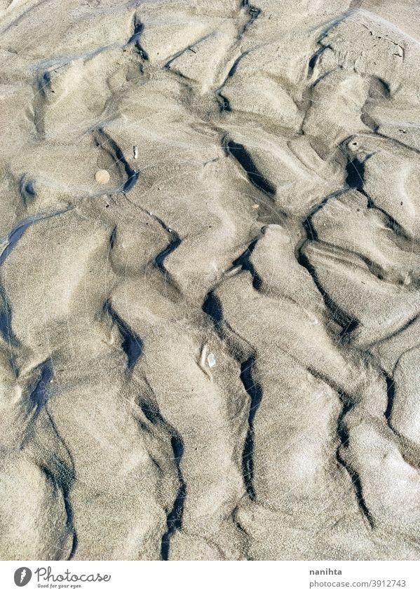 Close up of beach dunes sand sand dune desert texture organic close close up weird form shape simple no people nobody erosion natural nature light grain water