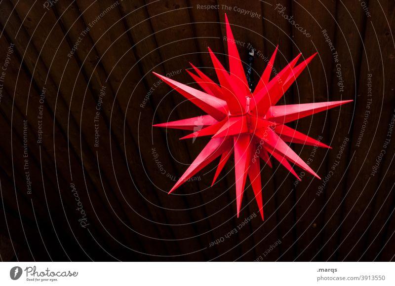 * Star (Symbol) Christmas & Advent Christmas star herrnhuter Decoration Red Wood Dark Christmas decoration