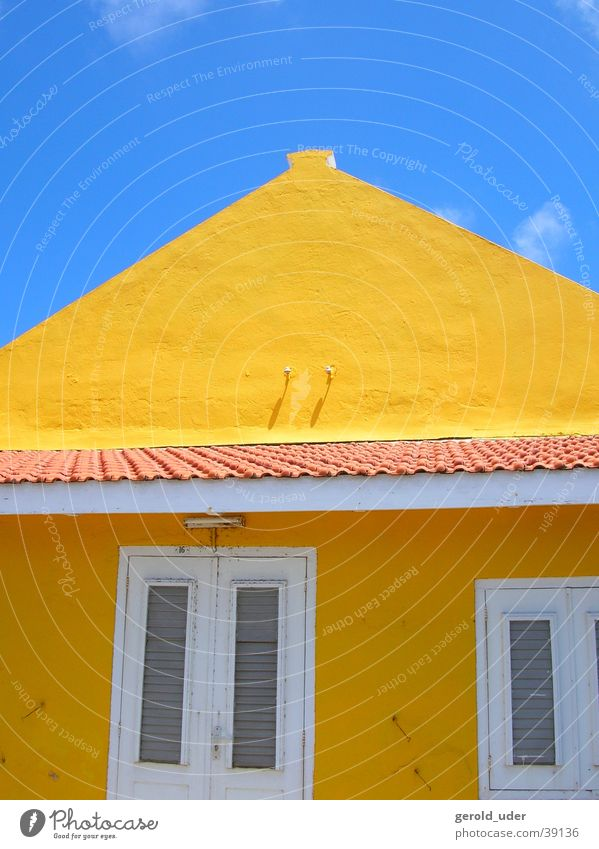 Colours in Bonaire 2 House (Residential Structure) Yellow Netherlands Architecture Sky Blue Cuba