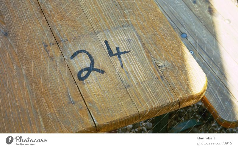 Table Digits and numbers Waiter Beer garden Photographic technology