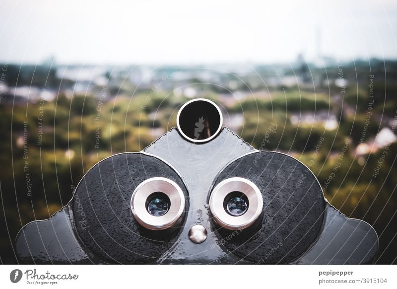 telescope Binoculars Telescope Colour photo Exterior shot Far-off places Day Deserted Vacation & Travel Tourism Vantage point Sightseeing Trip Looking Horizon