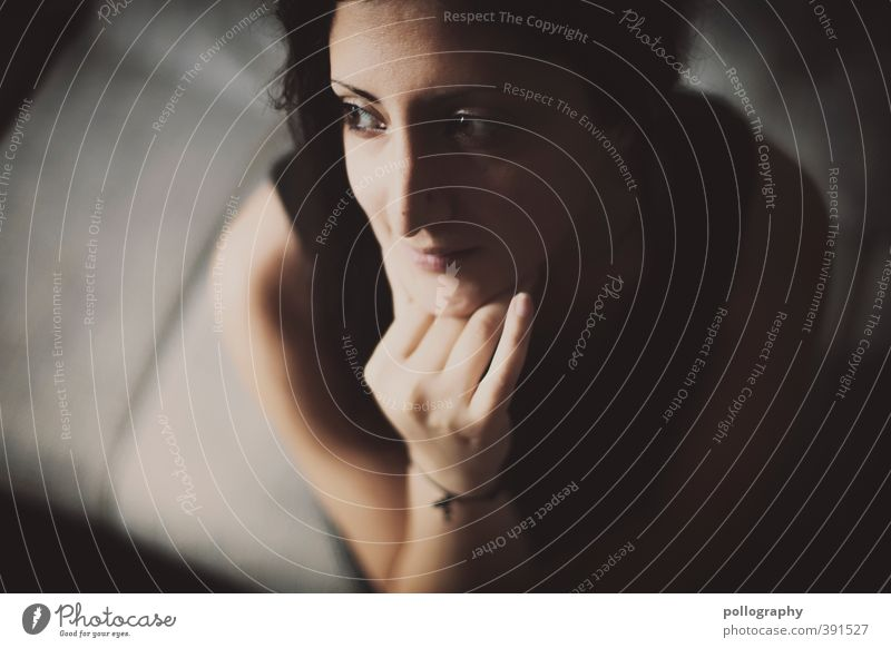 Human being Woman Youth (Young adults) Hand Loneliness Calm Adults Face 18 - 30 years Life Emotions Feminine Think Body Authentic Happiness