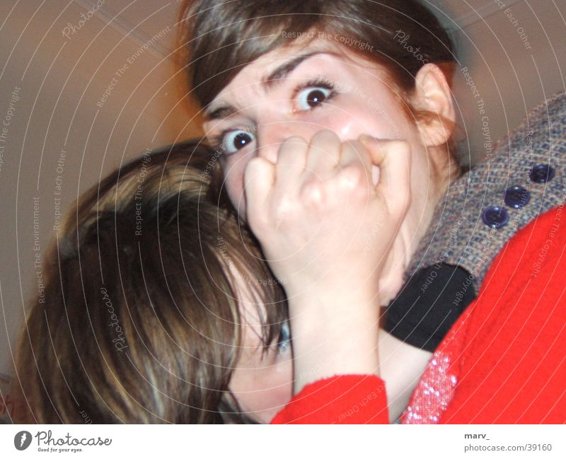 scary seconds Embrace Frightening Fist Large Woman Eyes