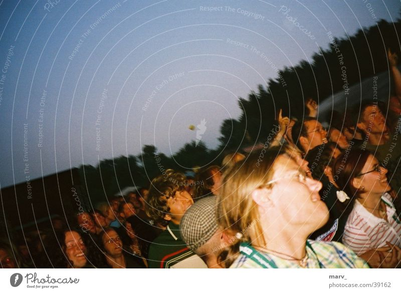 Festival atmosphere Immergut 2003 Moody Party Group always good Human being Music festival Evening neustrelitz