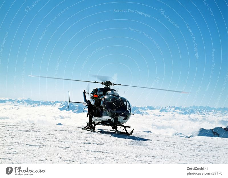 Hubi Helicopter Mont Blanc Electrical equipment Technology Snow Mountain Eurocopter
