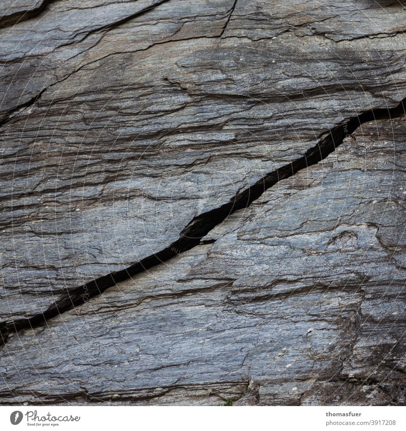 Rock face with crack rock Wall of rock Crack & Rip & Tear Stone Climbing Bouldering brittle Transience fall apart