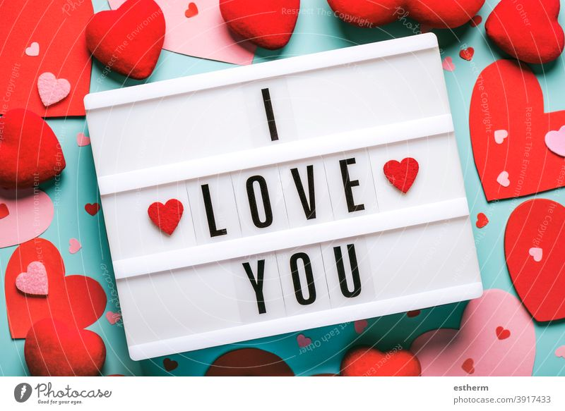 Happy Valentine's Day.Lightbox with the word i love you and red hearts.Valentine day concept Valentine's day valentine background lovely valentines