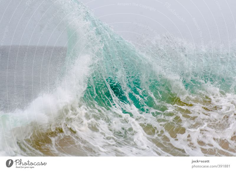 snapper skirts Water Waves Pacific Ocean Australia Movement Nature Surface tension Crest of the wave Force of nature White crest motion blur Elements Swell