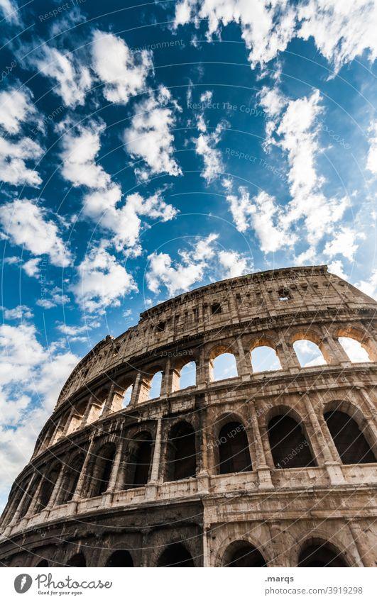 Colosseum Rome Italy Europe Architecture Landmark Historic Culture Ancient Building Stone Ruin Amphitheatre Vacation & Travel Roman Monument Tourism Italian