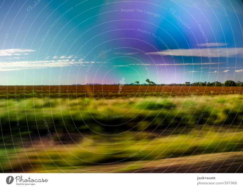 to go a long way Freedom Landscape Clouds Beautiful weather Grass bushes Outback Queensland Driving Vacation & Travel Far-off places Warm-heartedness Endurance
