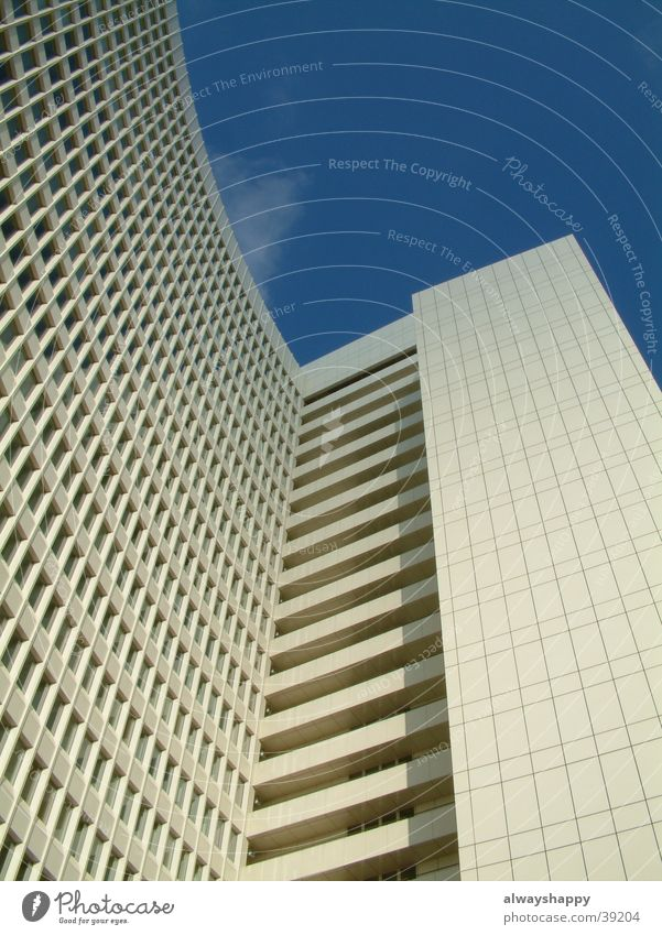 Sky Blue White Loneliness Window Cold Architecture Modern High-rise Future Hamburg Gloomy Futurism Advancement Altona