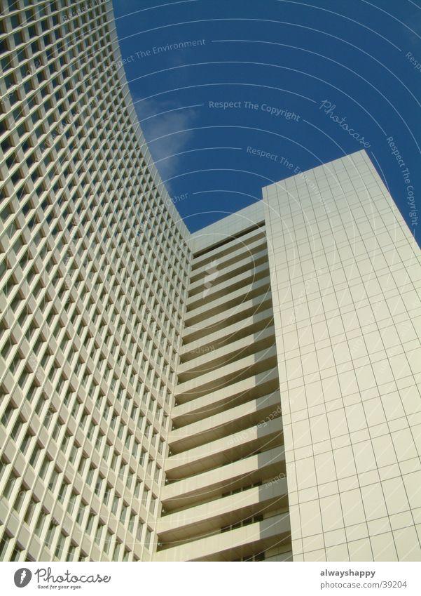 skyscraper High-rise Futurism Future White Cold Gloomy Window Architecture Hamburg Altona Sky Blue Advancement Modern Loneliness