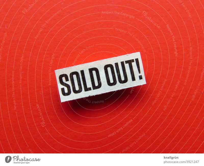 SOLD OUT! sold out Empty Shopping Consumption Markets business Store premises Retail sector Supermarket consumer Product Customer Bestseller Commerce buy Load