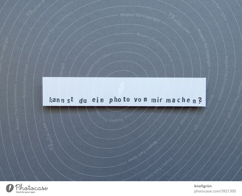 Can you take a picture of me? Ask Take a photo Photographer Question mark Photography Expectation Moody Stamp stamped homemade DIY Low-cut Paper