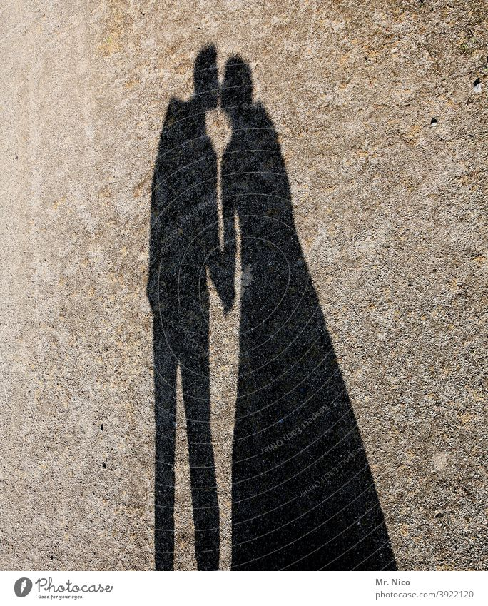 Just a kiss Love Kissing Touch Silhouette Shadow farewell kiss Lovers Goodbye Shadow play Love affair Longing Passion Couple Lanes & trails Relationship