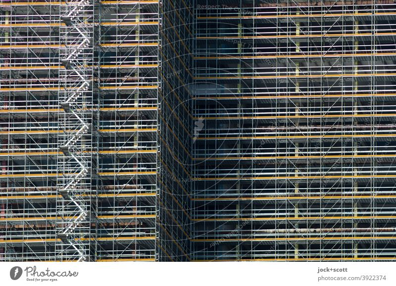 Scaffolding for building construction Residential construction Commercial construction Construction site Redevelop Architecture Building High-rise