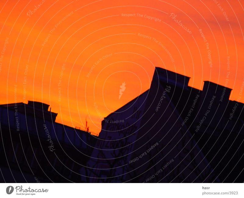 sunset Sunset Architecture Sky orange light
