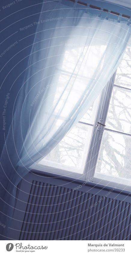blue Drape Back-light Window Rung Window transom and mullion Vantage point Window board Heater Living or residing Light (Natural Phenomenon) Glass Blue
