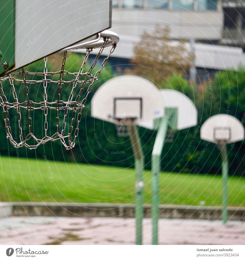 street basket in Bilbao city, Spain hoop basketball sport play playing equipment sports equipment game competition court field park playground outdoors bilbao
