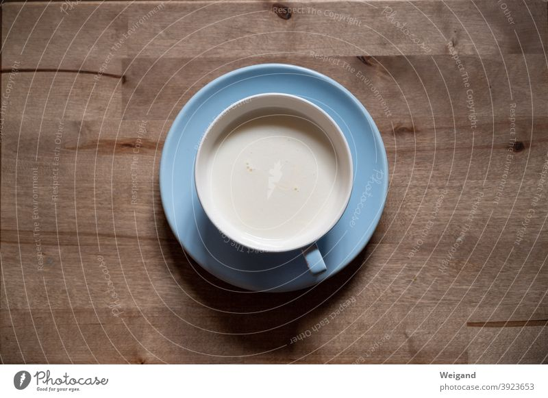 Milk in cup Simple White Dairy Products Cup Blue Reduced fasting Little Break lactose-free