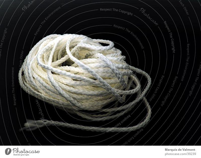 Just the beginning... String Knot Black White Sailing Nylon Craft (trade) Rope Contrast synthetic fibre corduroy line sports bondage bdsm fiber