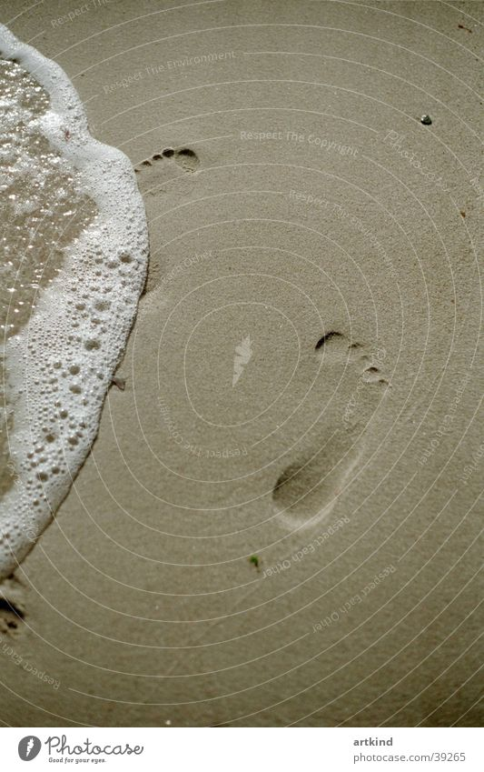 Nature Water Ocean Beach Calm Freedom Feet Waves Europe Serene Footprint Sea water