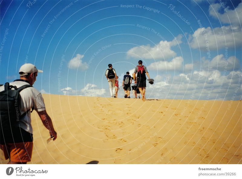 beach hike Beach Clouds Hiking Israel Vacation & Travel Sky To go for a walk Sand Landscape heaven walkaway countryside holiday walking tour