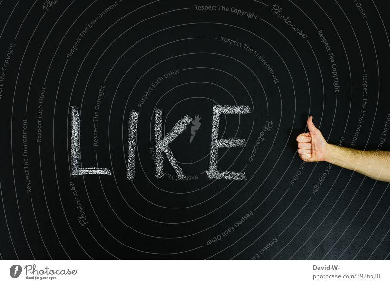 Like - like something / thumbs up Thumbs up Blackboard Chalk Positive Hand consent