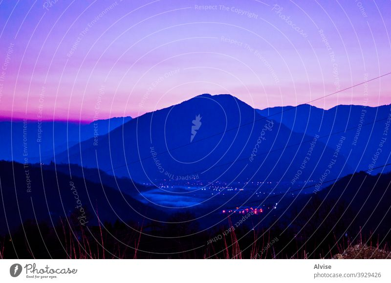 picksin sunset in alps mountain sky veneto hiking hike italy nature summer landscape piccole dolomiti open air outdoors day prealpi panoramic view