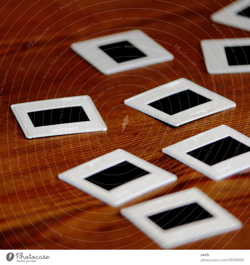 positive Slide Photography photo Memory Table Remember Nostalgia Past Analog Former family album Take a photo Transience