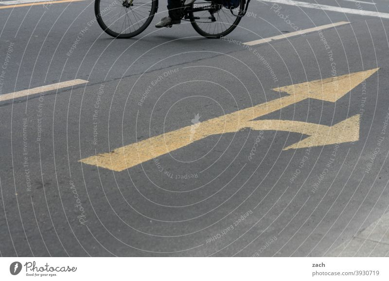 But now quickly | lane change Bicycle Driving Cycling Lane markings Traffic lane Wheel Street Transport Cycle path Lanes & trails Mobility Eco-friendly Movement