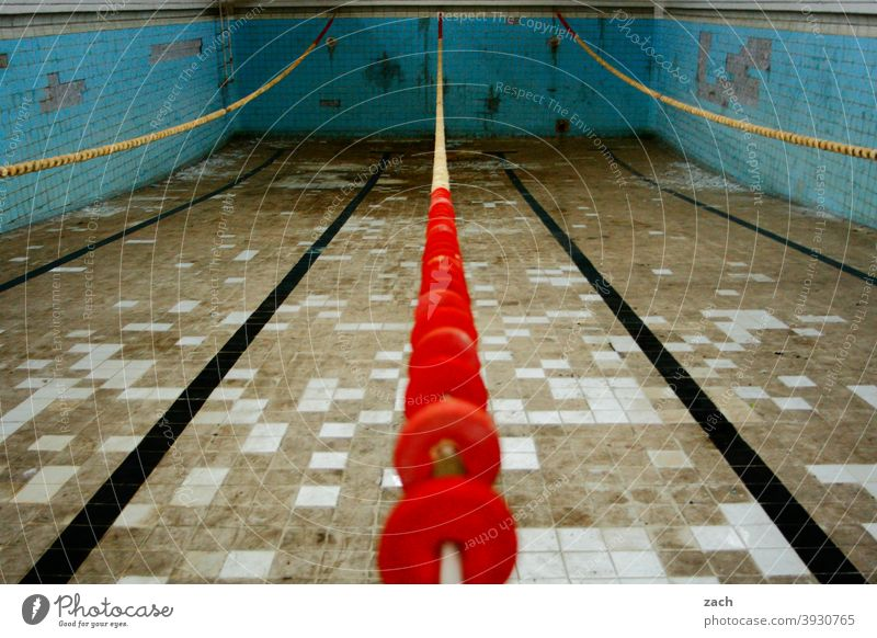 artificial pool Ruin Old Broken Decline Transience Destruction Swimming & Bathing Swimming pool swimming pools Bathroom Past lost places Derelict Change Empty