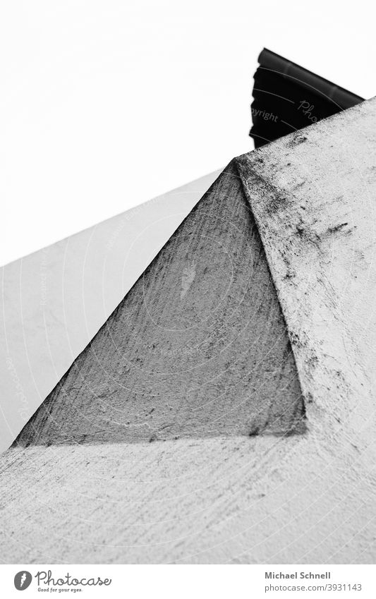 Abstract forms (view upwards at house wall) abstraction abstract photography Wall (barrier) Esthetic Creativity Art Aesthetics shape Triangle triangles