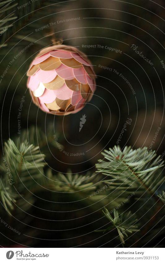 oh fir tree Fir tree Nordmann fir Fir needle Christmas tree Christmas & Advent Glitter Ball Christmas tree decorations christmas tree Pink Gold Green Sphere