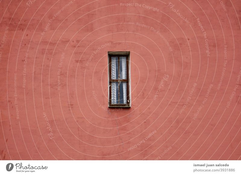 window on the red facade of the building, Bilbao city architecture exterior house home street outdoors color colorful structure construction wall bilbao spain