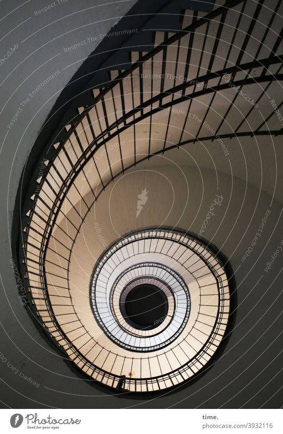 curve position Staircase (Hallway) snail shape Architecture Perspective lines design Lanes & trails Footpath ways structure Pattern Places Round rotating worm