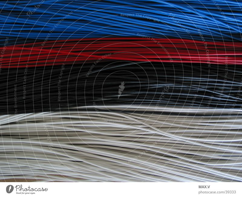 strands, connections Red Black White Electrical equipment Technology Connection Blue