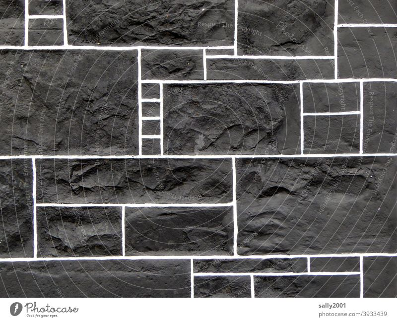 geometric facade art... Facade Black Geometry rectangular Rectangle Architecture Wall (building) Building Line Exterior shot Structures and shapes