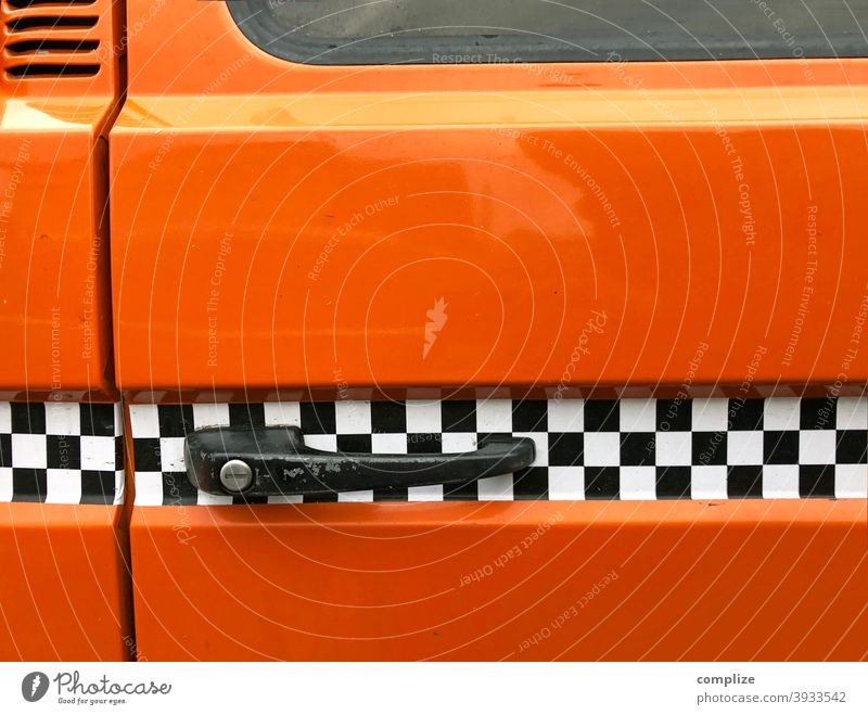Rally stripes on a bus rally strip Bus Tuning automobile Motoring Car lorry Decoration Road traffic Embellish Orange 70s 80s 1970s Retro style Design