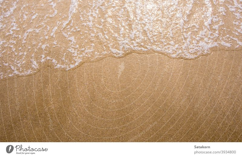White bubble of Sea wave on the beach sand fine sea ocean ebb sun nature blue tide splash movement clear tropical relax foam beautiful relaxation summer water