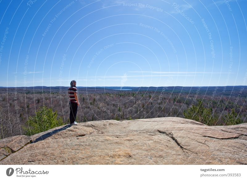 ALGONQUIN NATIONAL PARK, CA Canada Ontario Americas North America Man Far-off places Wanderlust Vacation & Travel Travel photography Rock Infinity Nature