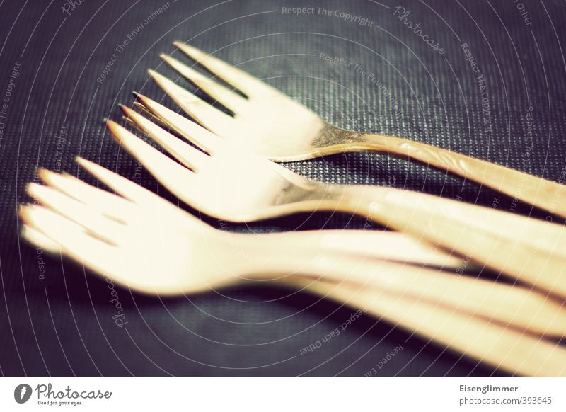 Cake at grandma's Fork Pastry fork Tablecloth Metal Old Point Cutlery Colour photo Interior shot Deserted Copy Space top Copy Space bottom Day