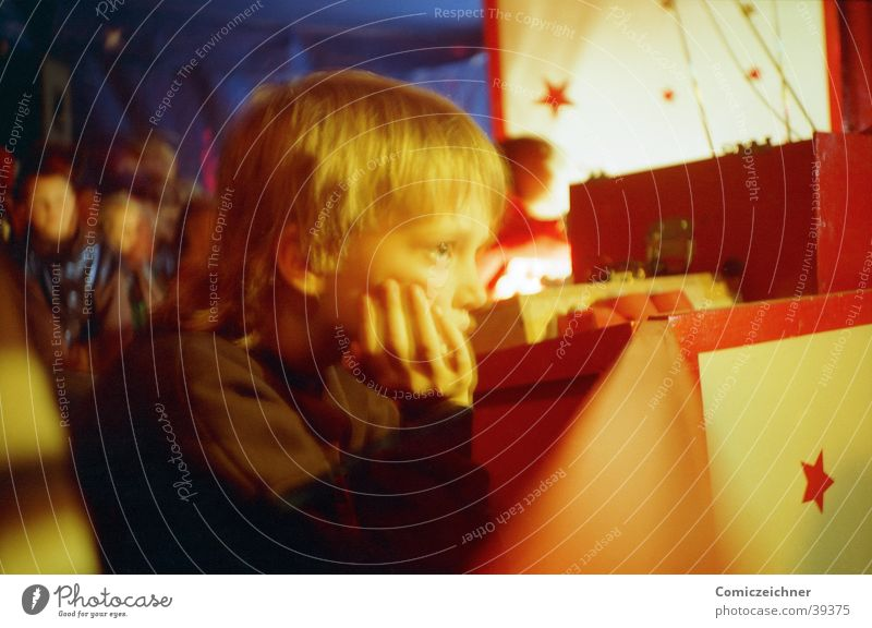 Child in a circus Circus Grief Longing Lomography Boy (child) Sadness Loneliness Star (Symbol)