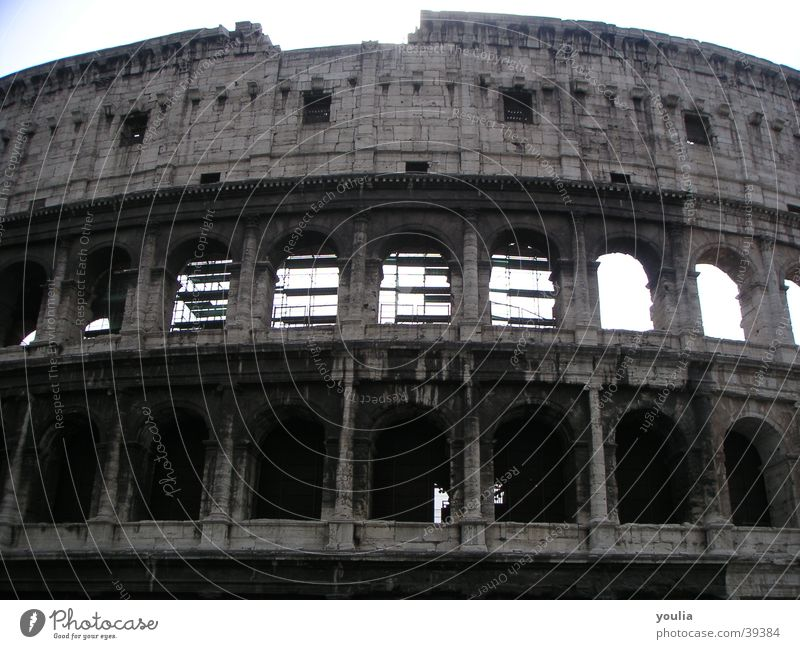 Sky City Vacation & Travel Window Architecture Culture Theatre Manmade structures Historic Column Rome Restoration Colosseum