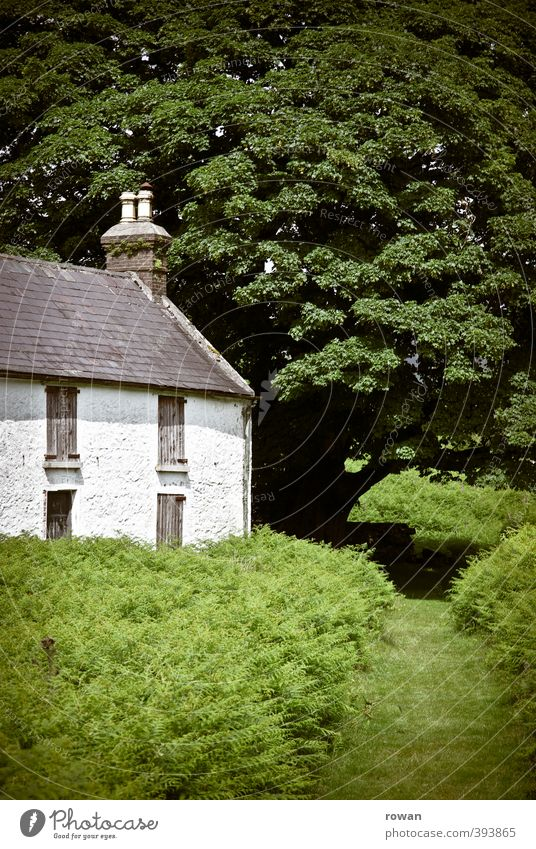 irish cottage 2 Environment Nature Landscape Tree Grass Bushes Garden Park Meadow Field Village House (Residential Structure) Detached house Manmade structures