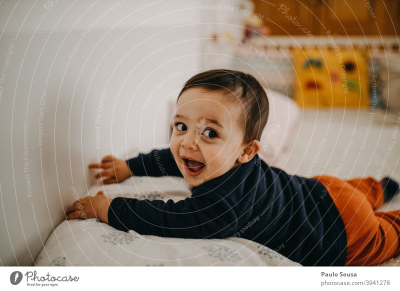 Toddler smiling Child Smiling smile Happy Happiness Authentic Infancy Lifestyle Joy childhood kid people Human being Colour photo happy Caucasian 1 - 3 years