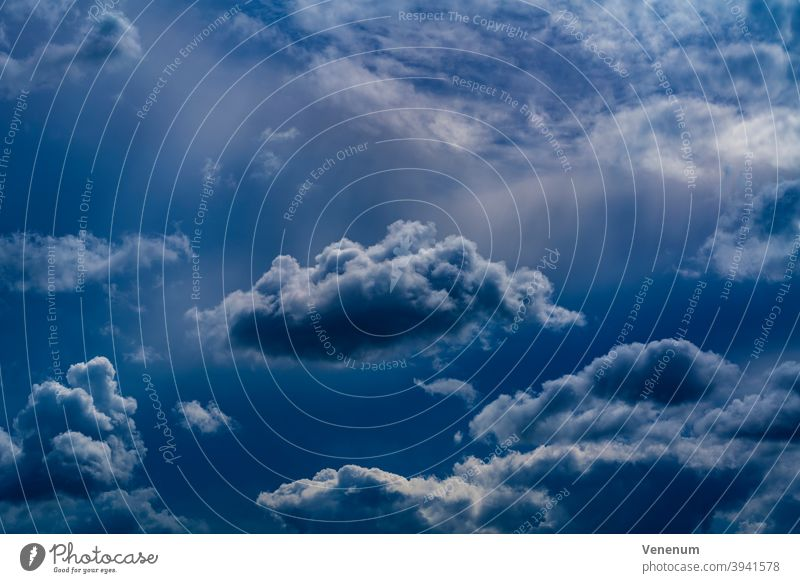 Rain clouds in summer in Germany Cloud Sky Astronomical studies Sky View Outdoor Nature Nature observation Cloud Field Thunderstorms Cloud collection