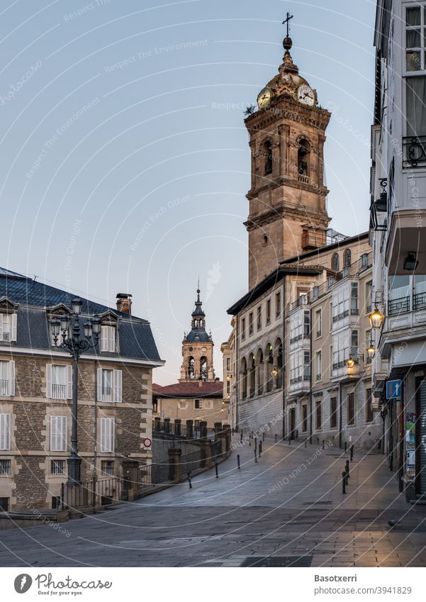 Old town of Vitoria-Gasteiz, Basque Country, Spain Town urban Church Building House (Residential Structure) Street voyage travel Travel photography Architecture