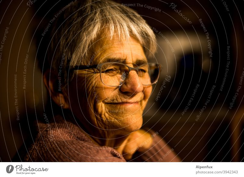 Home-Rentnering (w) Senior citizen Woman portrait Adults Colour photo Female senior Retirement Feminine 60 years and older Human being Old Interior shot
