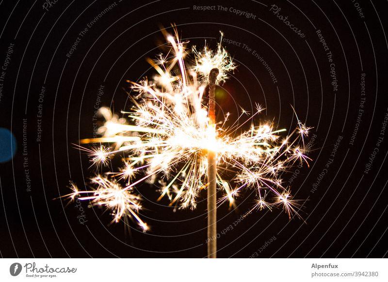 Finally Monday again...... Sparkler sparklers New Year's Eve Light Night Feasts & Celebrations Fire Party Christmas & Advent Firecracker Burn Joy Bright